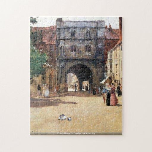Childe Hassam - Passage in Canterbury puzzle