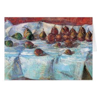 Childe Hassam - peras de la hoz del invierno Felicitación