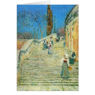 Childe Hassam - Piazza di Spagna Rome Card