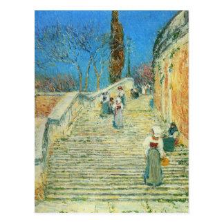 Childe Hassam - Piazza di Spagna Rome Postcard