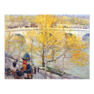 Childe Hassam - Pont París real Postal
