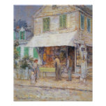 Childe Hassam - Provincial town Print