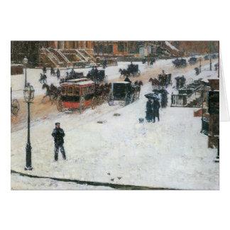 Childe Hassam - Quinta Avenida en invierno Tarjeta