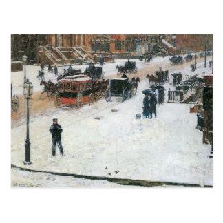 Childe Hassam - Quinta Avenida en invierno Tarjetas Postales