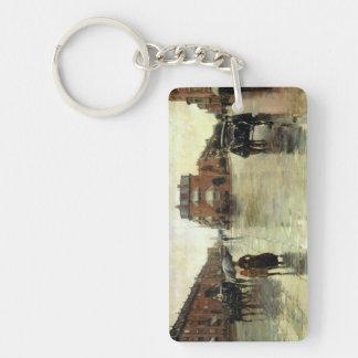 Childe Hassam - Rainy Day, Boston Keychain