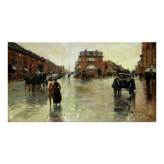 Childe Hassam - Rainy Day, Boston Poster