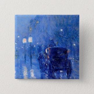 Childe Hassam - Rainy Midnight Pinback Button