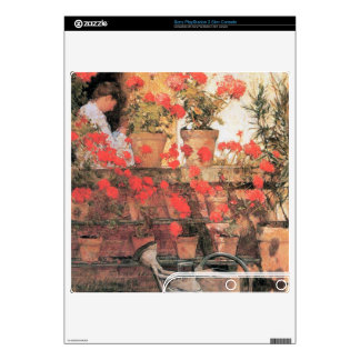 Childe Hassam - Red Geraniums PS3 Slim Console Decal