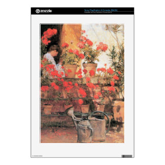 Childe Hassam - Red Geraniums Decal For PS3 Console