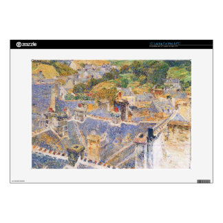"""Childe Hassam - Roofs Pont-Aven 15"""" Laptop Skin"""