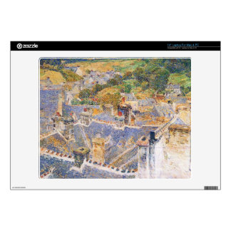 Childe Hassam - Roofs Pont-Aven Decal For Laptop