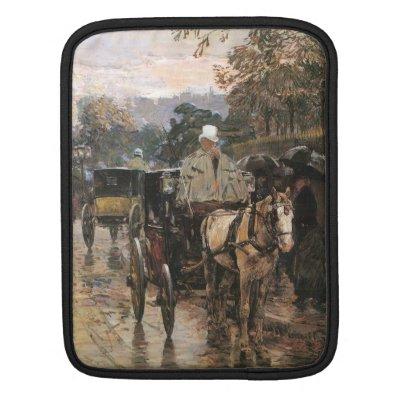 Childe Hassam - Rue Bonaparte iPad Sleeves