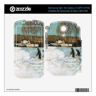 Childe Hassam - Snow shovels New England Decal For Samsung Epic