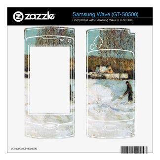 Childe Hassam - Snow shovels New England Decals For Samsung Wave