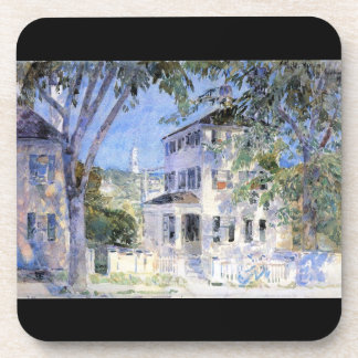 Childe Hassam - Street in Portsmouth Drink Coaster