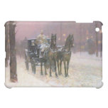 Childe Hassam - Street scene with two cabs iPad Mini Cover