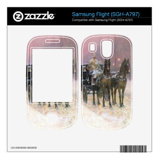 Childe Hassam - Street scene with two cabs Decals For Samsung Flight