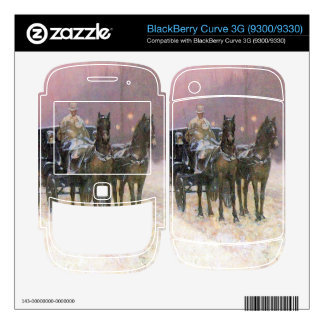 Childe Hassam - Street scene with two cabs Skins For The BlackBerry