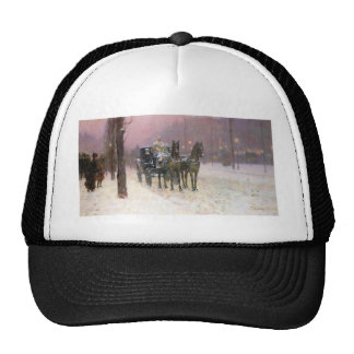 Childe Hassam - Street scene with two cabs Trucker Hat