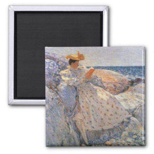 Childe Hassam - Summer sunlight Magnet