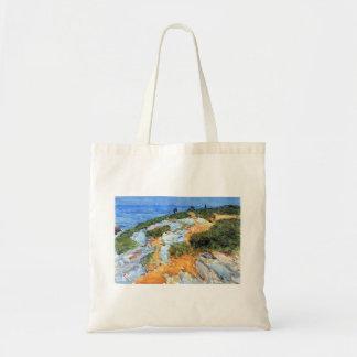Childe Hassam - Sunday morning Appledore Tote Bags