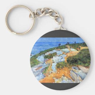 Childe Hassam - Sunday morning Appledore Keychains