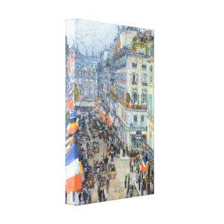 Childe Hassam - The 14th July Rue Daunou Canvas Print