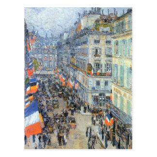 Childe Hassam - The 14th July Rue Daunou Postcard