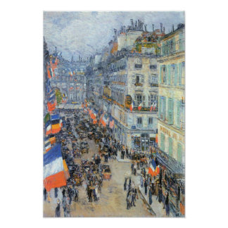 Childe Hassam - The 14th July, Rue Daunou Poster