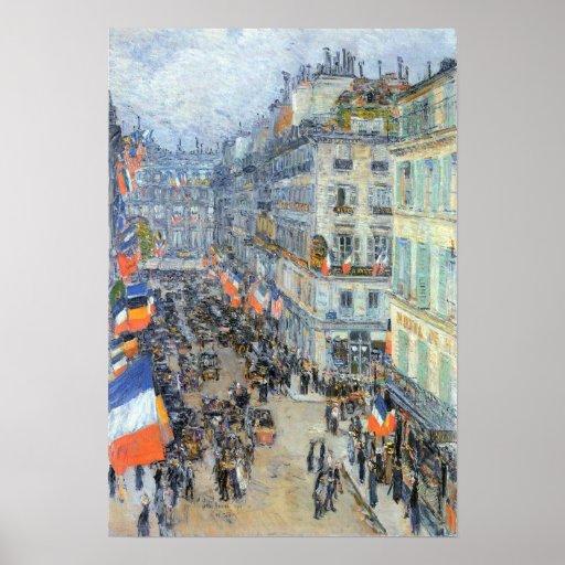 Childe Hassam - The 14th July, Rue Daunou Poster