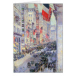 Childe Hassam - The avenue along 34th Street May 1 Greeting Card
