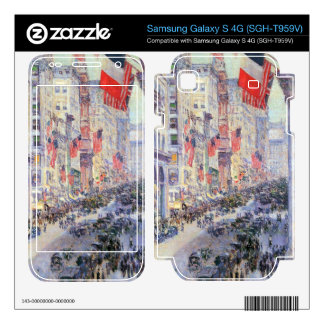 Childe Hassam - The avenue along 34th Street May 1 Samsung Galaxy S 4G Skin