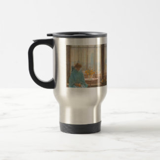Childe Hassam - The breakfast room winter morning 15 Oz Stainless Steel Travel Mug