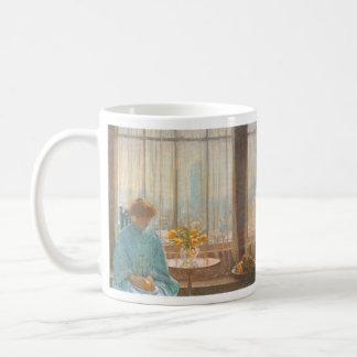 Childe Hassam - The breakfast room winter morning Classic White Coffee Mug
