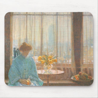 Childe Hassam - The breakfast room winter morning Mouse Pad