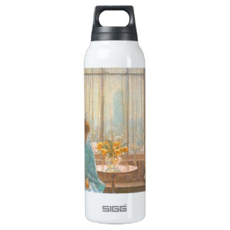 Childe Hassam - The breakfast room winter morning 16 Oz Insulated SIGG Thermos Water Bottle
