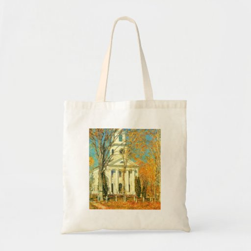 Childe Hassam - The Church of Old Lyme Connecticut Tote Bag