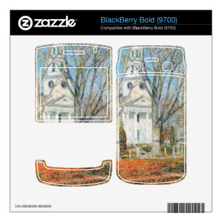 Childe Hassam - The Church of Old Lyme Connecticut BlackBerry Bold Decal