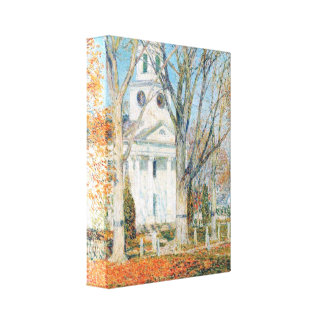 Childe Hassam - The day of the Grand Prize Gallery Wrapped Canvas