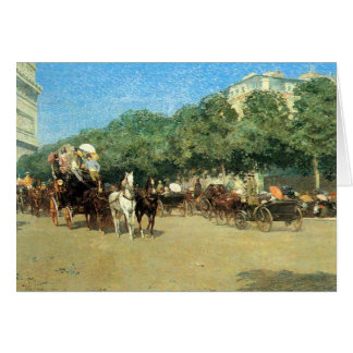 Childe Hassam - The day of the Grand Prize Card