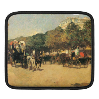 Childe Hassam - The day of the Grand Prize Sleeve For iPads