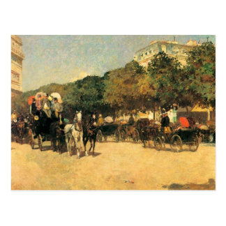 Childe Hassam - The day of the Grand Prize Postcard