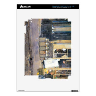 Childe Hassam - The flower girls and the milk vend Decal For iPad 3