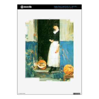 Childe Hassam - The fruit trader iPad 3 Decals