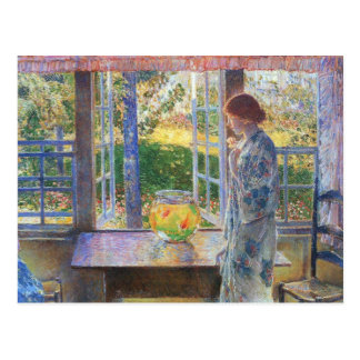 Childe Hassam - The Goldfish Window Postcard