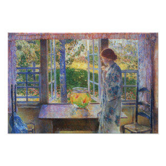 Childe Hassam - The Goldfish Window Poster