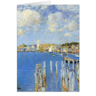 Childe Hassam - The inland port of Gloucester Greeting Cards
