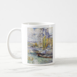 Childe Hassam - The Louvre on Pont Royal Coffee Mug