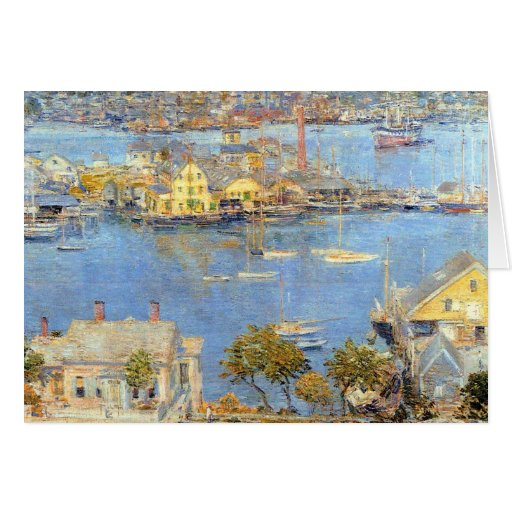 Childe Hassam - The port of Gloucester Greeting Card