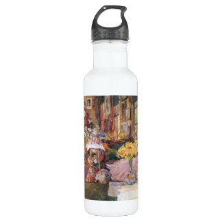 Childe Hassam - The room of flowers 24oz Water Bottle